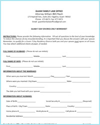 Printables Divorce Worksheet guam 7 day residency divorce worksheets only worksheet