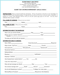 Printables Divorce Worksheet guam 7 day residency divorce worksheets without children worksheet
